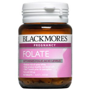 Blackmores Folic Acid Tablets 500Mg 90