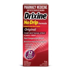 Drixine No Drip Pump Mist Spray 15Ml