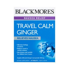 Blackmores Travel Calm Ginger Tablets 45
