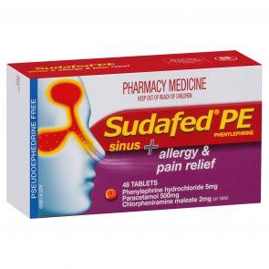 Sudafed Pe Sinus & Allergy Pain Relieftablets 48