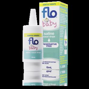 Flo Baby Saline + Nasal Drops 15Ml