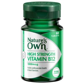 Nature'S Own High Strength Vitamin B12 Tablets 1000Mcg 60
