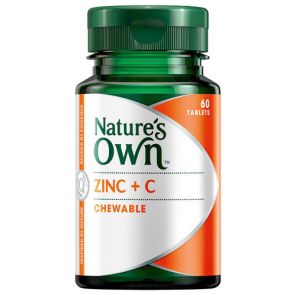 Nature'S Own Zinc & Vitamin C Chewable Tablets 60
