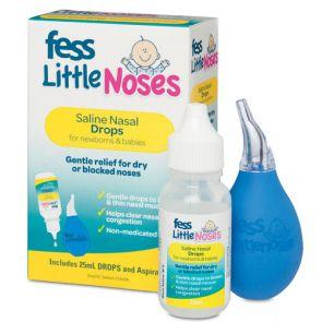Fess Little Noses Saline Spray & Aspirator 25Ml