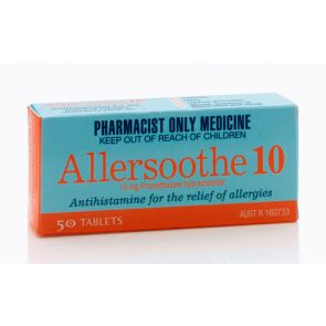Allersoothe Tabs 10Mg 50