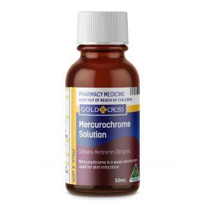 Gold Cross Mercurochrome Solution 2% 50Ml