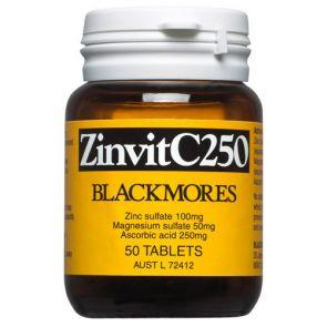 Blackmores Zinvit Tablets 250Mg 50