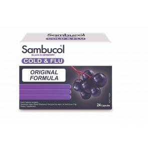 Sambucol Cold & Flu Gel Capsules 24