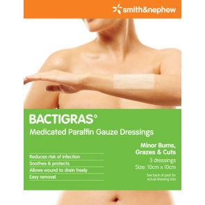 Bactrigras Dressings 10Cmx10Cm 3