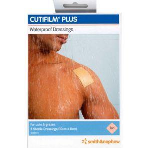 Cutifilm Plus Dressings Tan 8Cmx10Cm 5