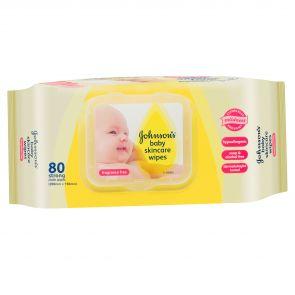 Johnson & Johnson Baby Wipes Skincare Fragrance Free 80