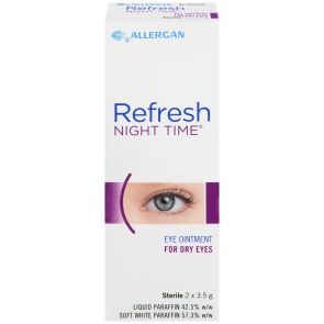 Refresh Night Time Eye Ointment 3.5G X 2