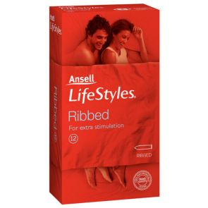 Ansell Lifestyles Ribbed 12