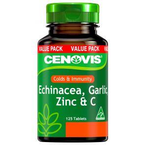 Cenovis Echinacea Garlic Zinc & C Tablets 125