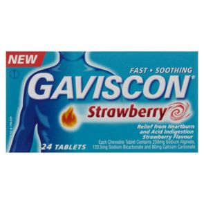 Gaviscon Strawberry Tablets 24