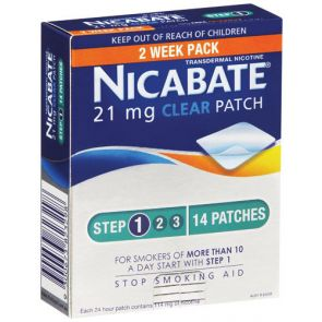 Nicabate 21mg Clear Patch 14