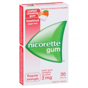Nicorette Gum Fresh Fruit 2Mg 30