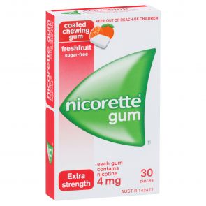 Nicorette Gum Fresh Fruit 4Mg 30