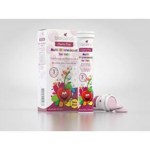 Bio Island Cherry Fizz Multi For Kids Twin Pack Tablets 40