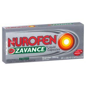 Nurofen Zavance Liquid Capsules 200Mg 20