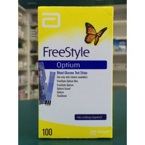 Abbott Freestyle Optium Blood Glucose Test Strips 100