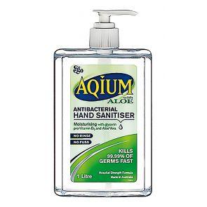 Ego Aqium Antibacterial Hand Sanitiser Aloe 1L