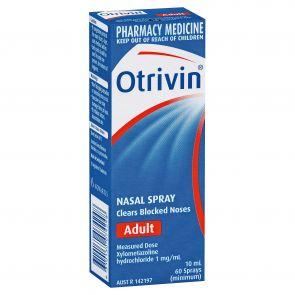 Otrivin Adult Metered Dose Nasal Spray 10Ml