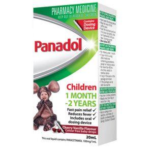 Panadol Children Colour-Free Baby Drops Easy Dose 20mL