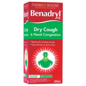 Benadryl Pe Dry Cough And Nasal Congestion 200Ml