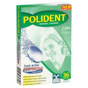 Polident Cleanser 3 Minute Daily 36 Tablets