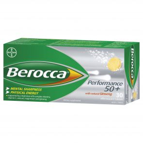 Berocca Performance 50+ Effervescent Tablets 30