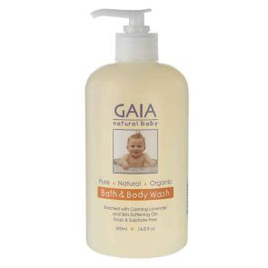 Gaia Natural Baby Bath & Body Wash 500Ml