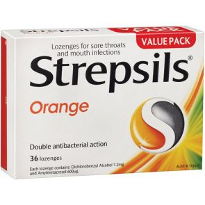 Strepsils Orange Lozenges 36