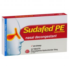 Sudafed Pe Phenylephrine Tablets 24