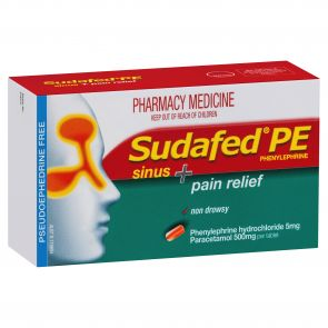 Sudafed Pe Sinus & Pain Relief Tablets 24