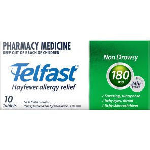 Telfast Tablets 180Mg 10