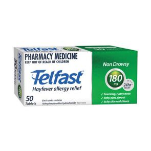Telfast Tablets 180Mg 50