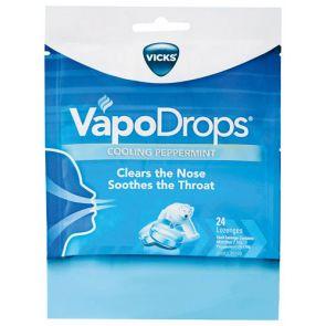 Vicks Vapodrops Blue Cooling Perppermint Lozenges 24