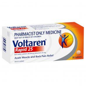 Voltaren Rapid Tablets 25Mg 20