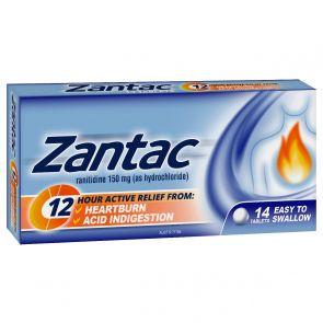 Zantac 12 Hour 150mg 14 Tablets