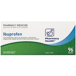 Pharmacy Health Ibuprofen 96 Tablets
