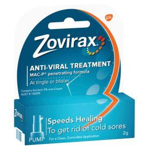 Zovirax Cold Sore Cream Pump 2g