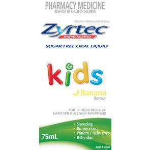 Zyrtec Kids Banana Solution 75Ml