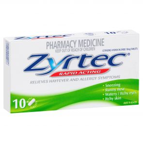 Zyrtec Tablets 10Mg 10