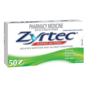 Zyrtec Tablets 10Mg 50