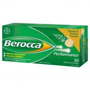 Berocca Performance Orange & Mango Effervescent 30 Tablets
