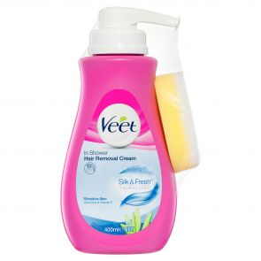 Veet Natural In Shower Hair Removal Cream Sensitive 400Ml