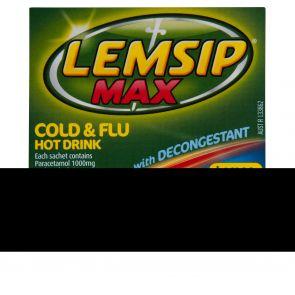 Lemsip Max Decongest Lemon Sachet 10