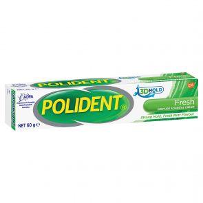 Polident Denture Adhesive Cream Fresh Mint 60G