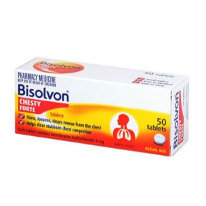 Bisolvon Chesty Forte Tablets 8Mg 50